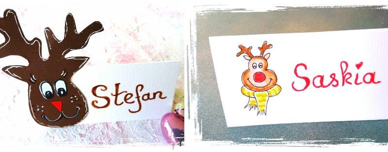 tischkarten zu weihnachten basteln