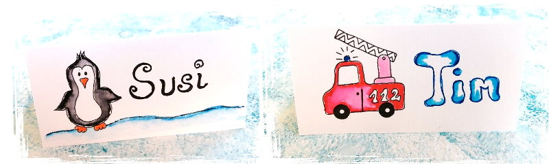 tischkarten kindergeburtstag selber machen